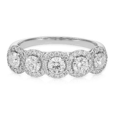 Royal Asscher® 1 1/4 ct. tw. Diamond Band in 14K Gold available at #HelzbergDiamonds