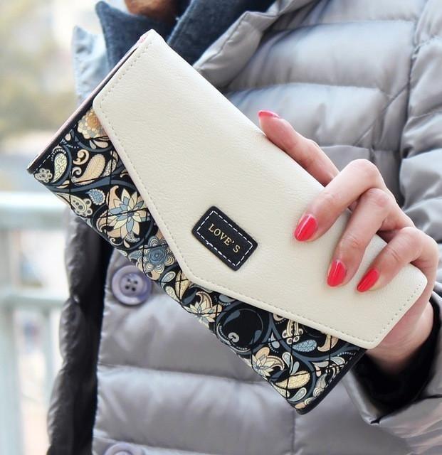 DUDINI Wallet Hit Flowers Printing Leather Wallet – InnovativeSpaceShop