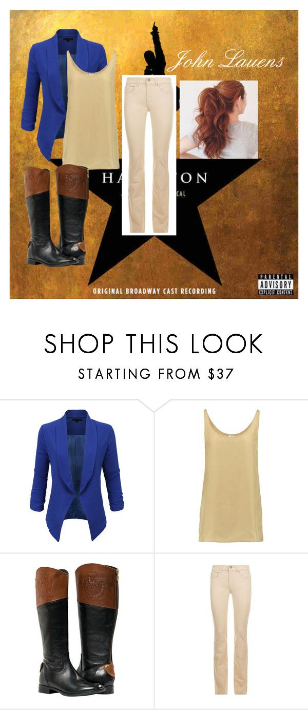 """John Lauren outfit"" by officialhamitlon on Polyvore featuring LE3NO, Iris & Ink and Escada Sport"