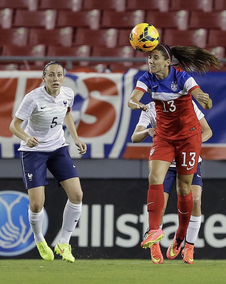 Alex Morgan vs. France, June 14, 2014. (Chris O'Meara/AP)