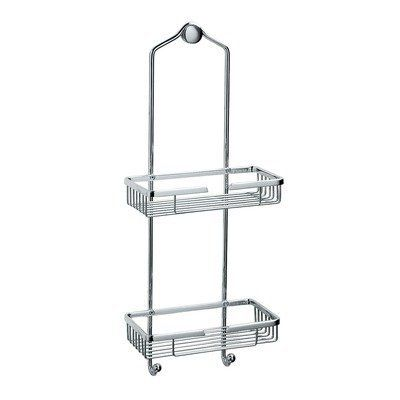 Gatco 1477 Shower Basket by Gatco. $93.00. 1477 Features: -Transitional style.-2 tiers.-2 hooks.-Can be hung easily on shower head.-Satin Nickel.-Polished Brass. Options: -Available in a chrome finish. Dimensions: -Dimensions : 24'' H, 9.5'' W. Collection: -Shower Caddies and Accessories Collection.