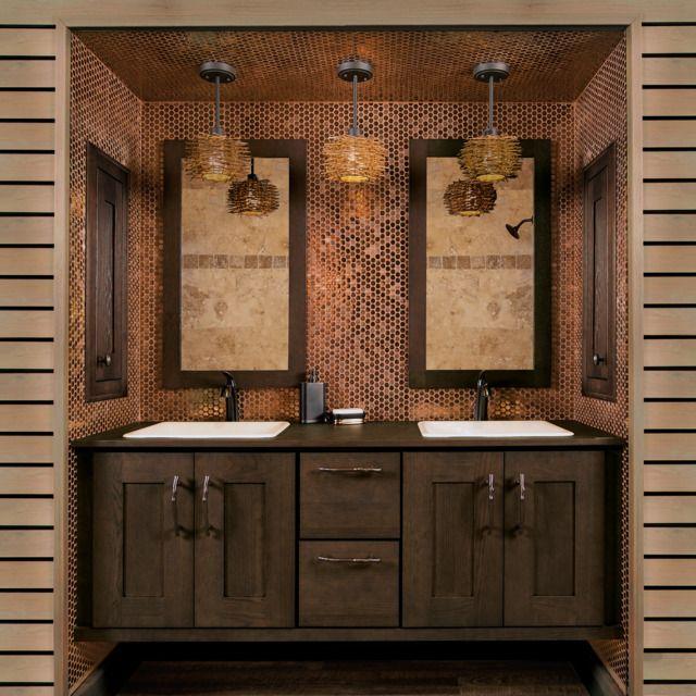 Elegant Contemporary Vanity From: Wellborn Cabinet | Kitchen Bath Design News