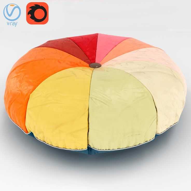 Pouf - 00001 3D Model | Download Royalty Free Sofa and Armchair 3D Models - 3D Squirrel