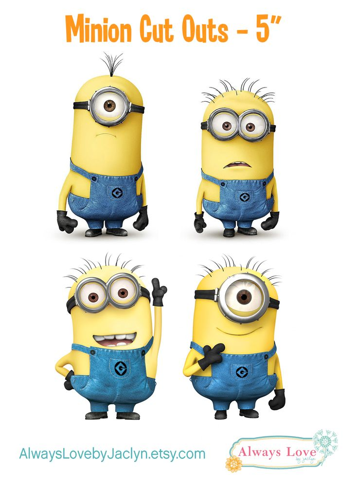 Despicable Me Minion Party cut outs! Can use to make centerpieces or for party decor! Visit AlwaysLovebyJaclyn.etsy.com