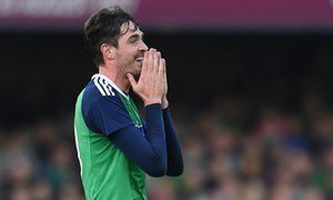 Northern Irelands Kyle Lafferty and Chris Cathcart take part in training