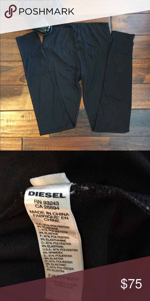 "Diesel Leggings Diesel Leggings. Fitted at bottom. Polyester and elastane. 33"" inseam. Good condition no holes tears or stains. Worn only once or twice. Diesel Pants Leggings"