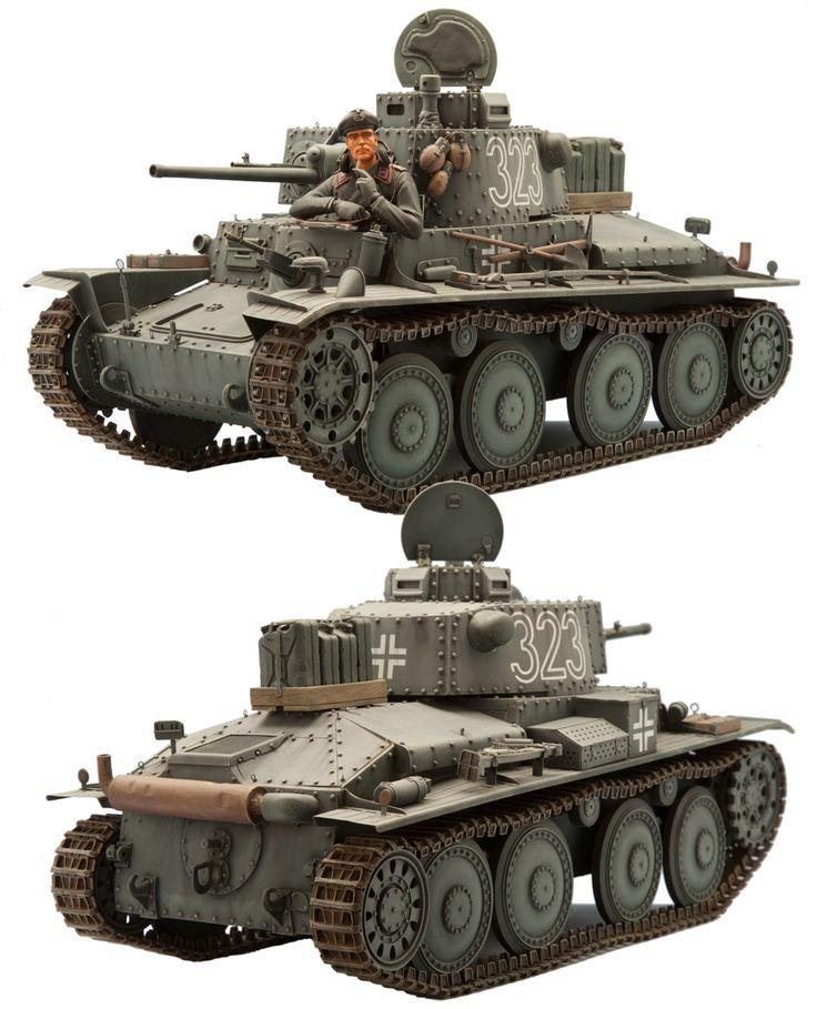 1/16 resincast model GERMAN PZ.KPFW 38(T)