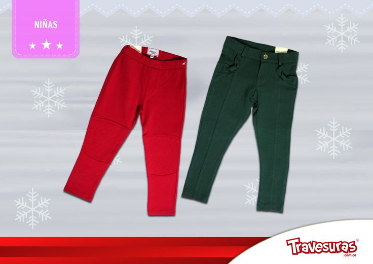 Colección fin de año 2015 - Leggings niña. Más información en www.travesuras.com.co