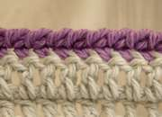 """How to crochet a """"rope"""" joining edge."""