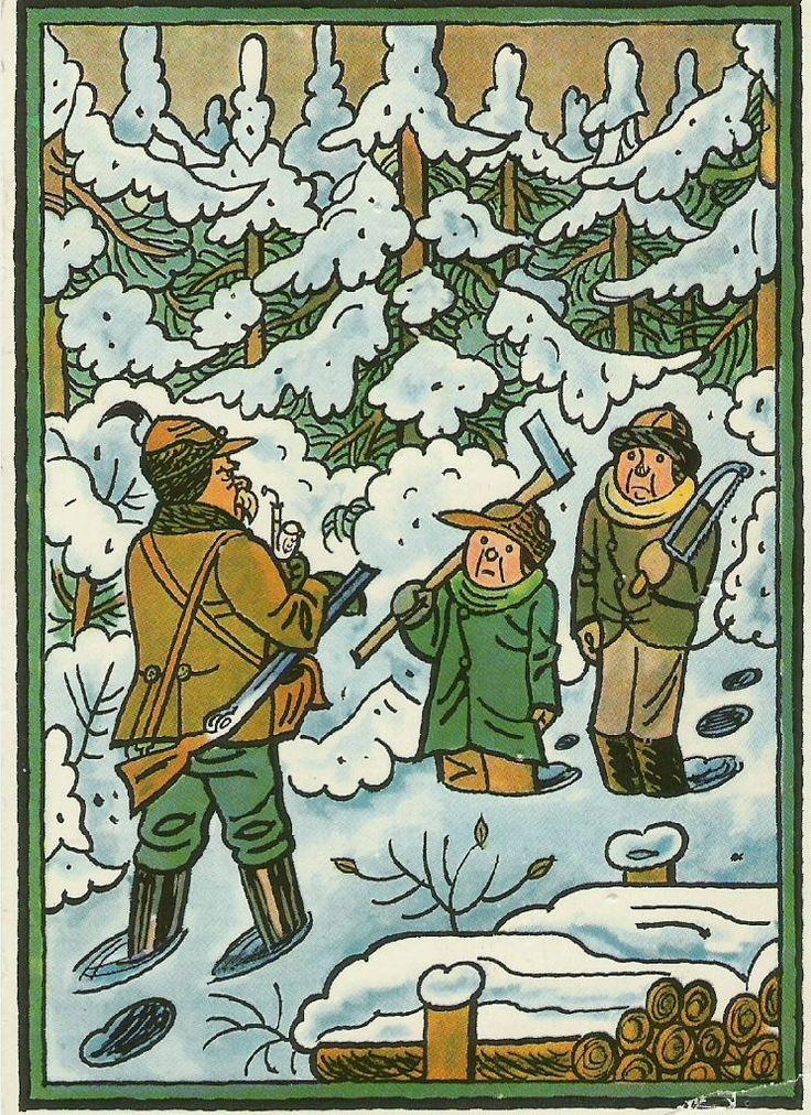 Josef Lada: Za vánočním stromečkem
