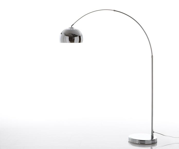 Luxury Bogenleuchte Big Deal Eco Chrom Stehlampe mit Abdeckung h henverstellbar