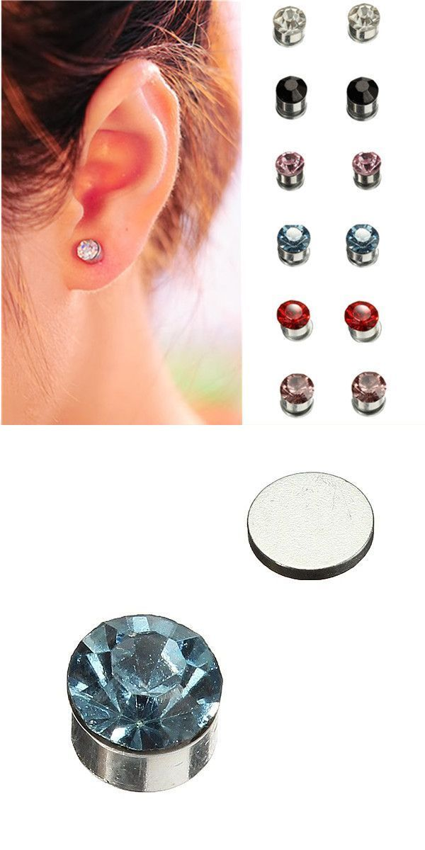 2 Earrings On A Guy Means Multicolor Crystal Rhinestone Earring Magnet Stud Uni And Ring Black Jared