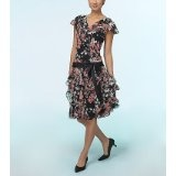 Chiffon Floral Flutter Dress (Apparel)By Liz Claiborne