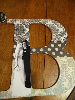 mod podge, a wooden letter and your fave picture and you have an easy and beautiful craft..