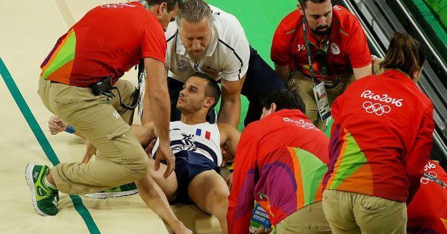 # French gymnast #Gymnast # Break  #Leg #2016 #French Gymnast # Samir Ait  #Breaks  #Leg #Rio Olympics 2016#Mature #Rio Olympics 2016 +18 #French  #RIO #Olympics # $HD TV #Mature #World Championships