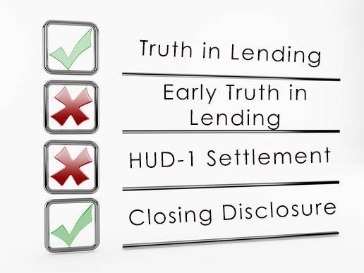 Easier Truth in Lending and closing statements for home buyers coming in 2005::Currently, lenders must provide borrowers with 4 statements during the home buying process: an Early Truth in Lending Statement, a Final Truth in Lending Statement, a Good Faith Estimate and a HUD-1 Settlement Statement. Beginning August 1, 2015 that will all change and lenders will reduce these 4 statements to just 2.