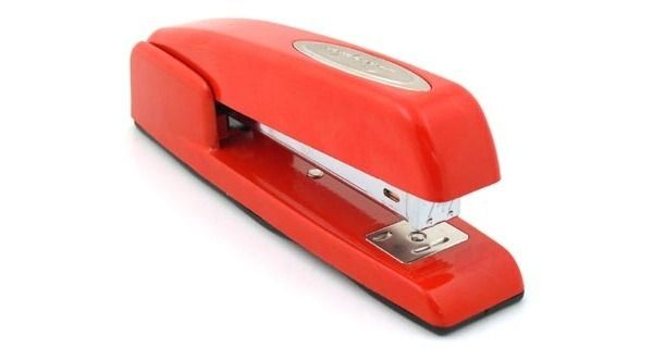 red swingline stapler office space geek office
