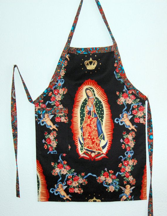 Super cool apron to feel great in! Our Lady of Guadalupe  Virgin of Guadalupe Apron by outofourmind, $25.00