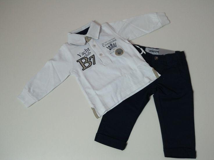 completo neonato pantalone + polo 9, 12, 18, 24, 30 mesi