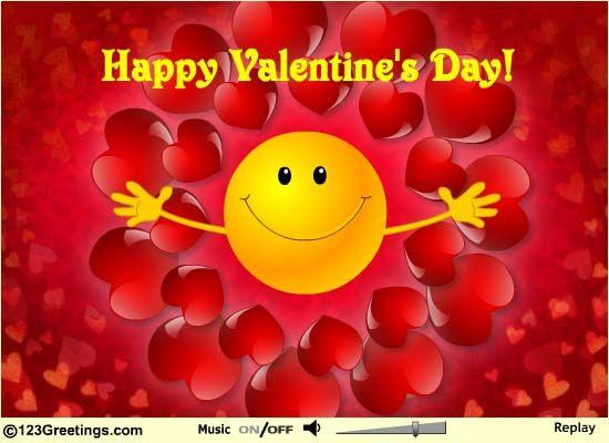 Free Online Valentine Smiley Hugs Ecards On Valentineu0027s Day