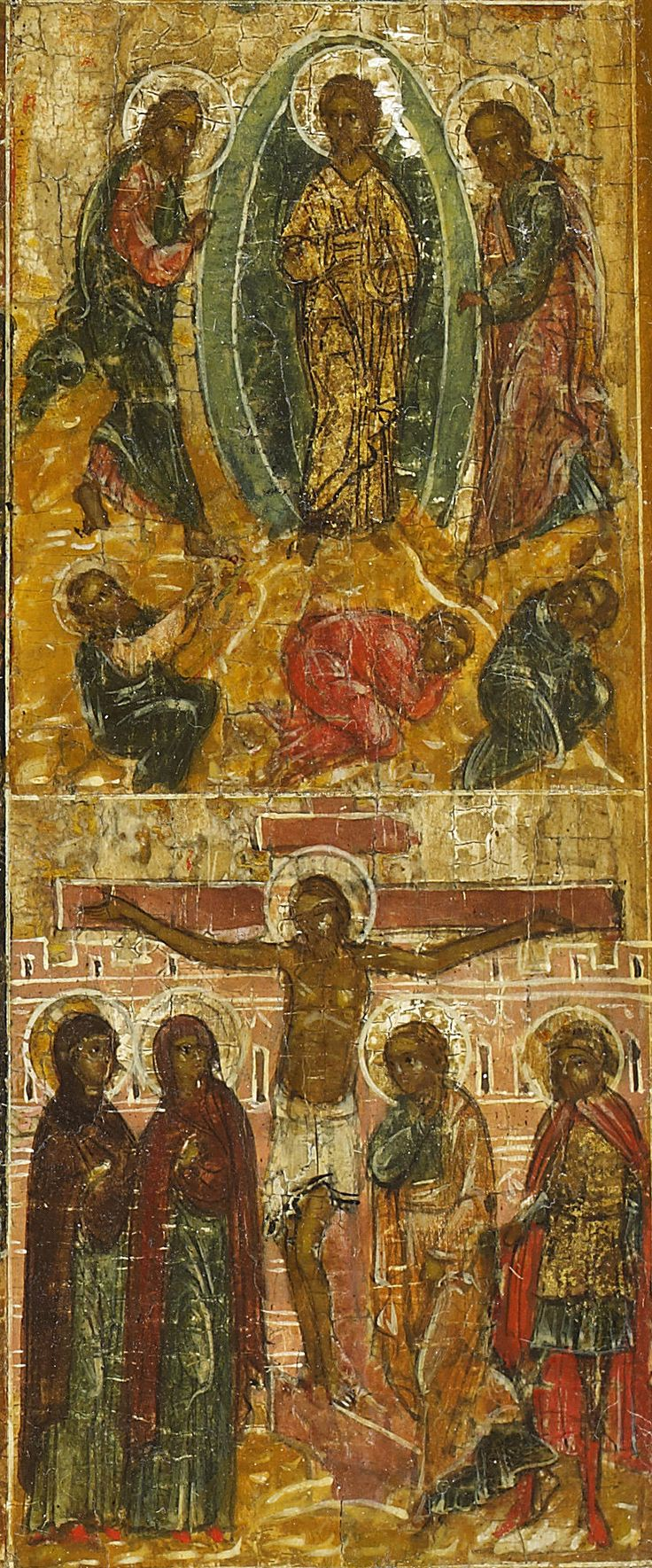 Detailed view: E035. Standing Christ of Smolensk with 12 Feasts- exhibited at the Temple Gallery, specialists in Russian icons