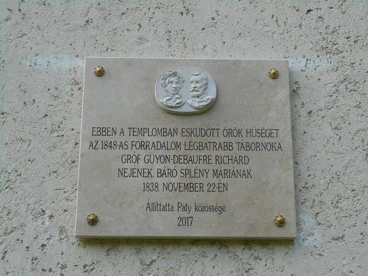 Guyon - Splény emléktábla (Páty) http://www.turabazis.hu/latnivalok_ismerteto_4861 #latnivalo #paty #turabazis #hungary #magyarorszag #travel #tura #turista #kirandulas
