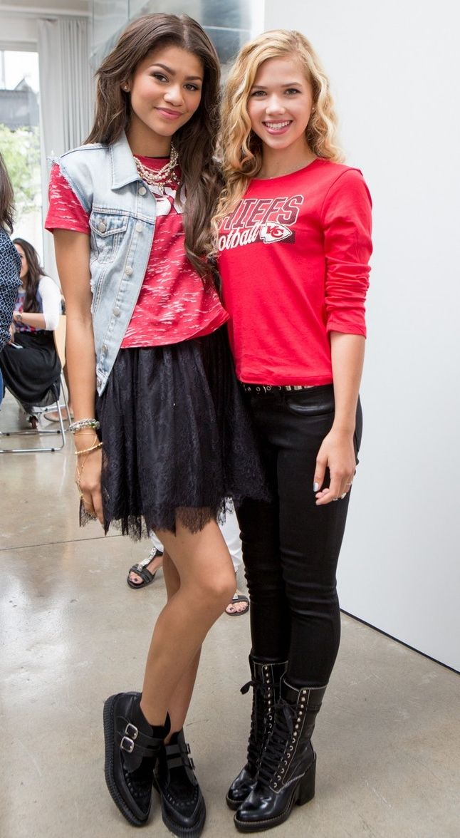 zendaya coleman and the girl that plays paisley on a.n.t farm
