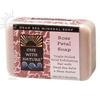 One With Nature Dead Sea Mineral Rose Petal Soap 7 oz ** Want additional info? Click on the image.