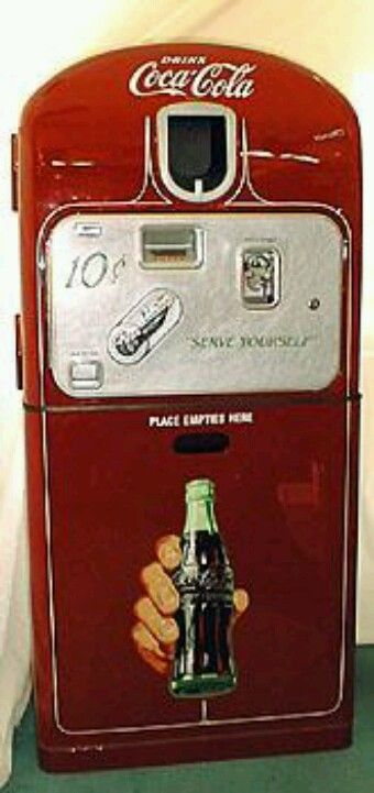 Something about the era of the 40's...art deco and design made even Coca Cola vending machines look like pieces of art.