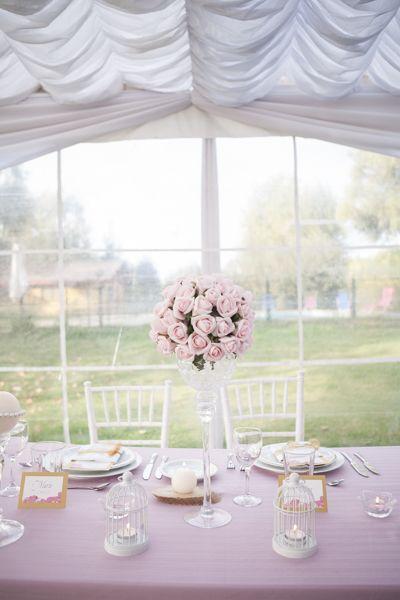 Arreglo floral mesa de novios