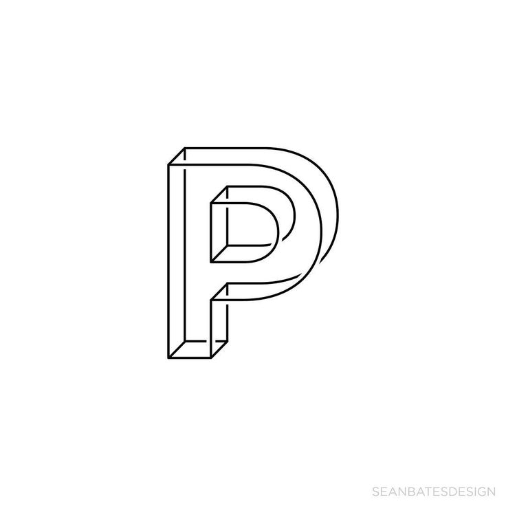 """P - A new letter everyday!  If you'd like to work with me, email me at sean@sbates.com  #graphic #alphabet #type #typographychallenge #designarf #typespot…"""