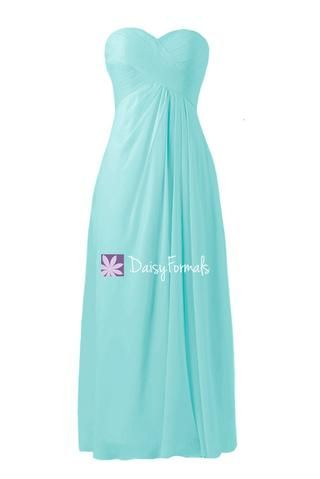 Robin Egg Blue Best Bridesmaids Dress Long Light Blue Chiffon Party Dress Turquoise Blue Formal Dress (BM7712) – DaisyFormals-Bridesmaid and Formal Dresses in 59  Colors