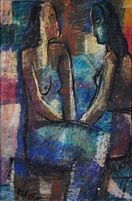 Two seated women by Kay It, 1977