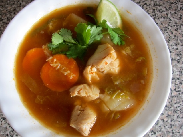 Come home for supper mexican fish soup healthy recipes for Fish soup recipes