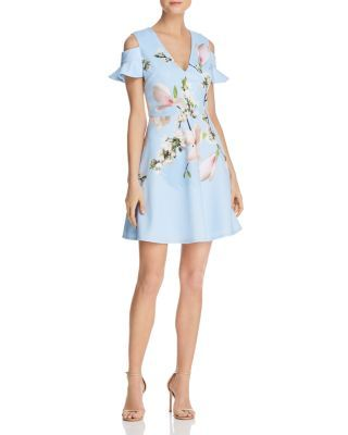 718ac18c473d Ted Baker Effrae Harmony Cold-Shoulder Dress - 100% Exclusive ...