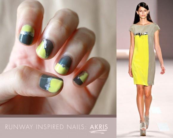 NOTD: AKRIS Runway Inspired Geometric Nails