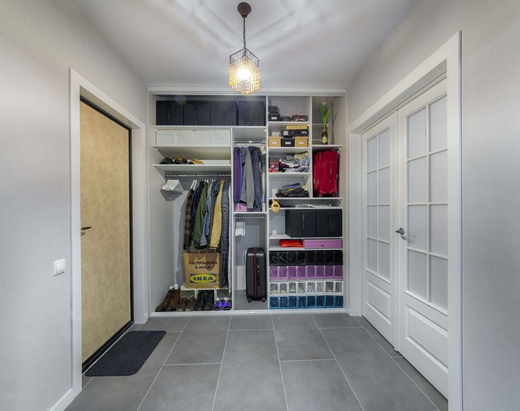 Built-in wardrobe with filling IKEA Photo