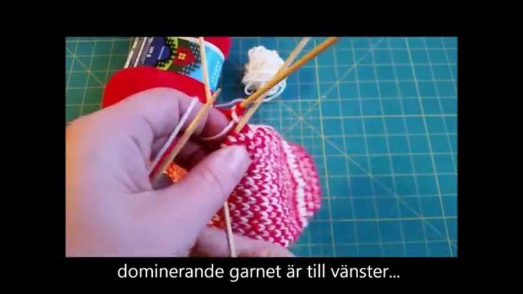 How to knit with 2 colors / Yarn dominance / lankadominanssi / garndominans