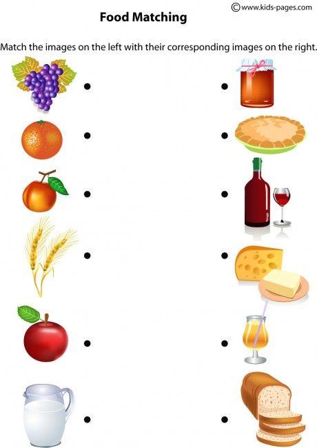 Food Matching worksheets
