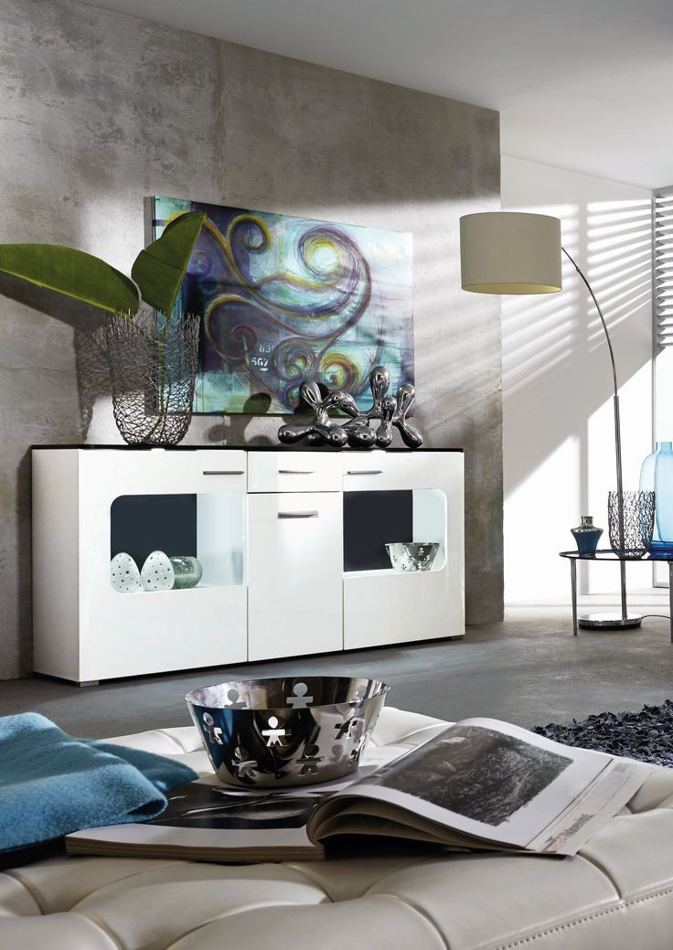Pinterestu0027teki 25u0027den fazla en iyi Sideboard schwarz weiß fikri - wohnzimmer schwarz weiss holz