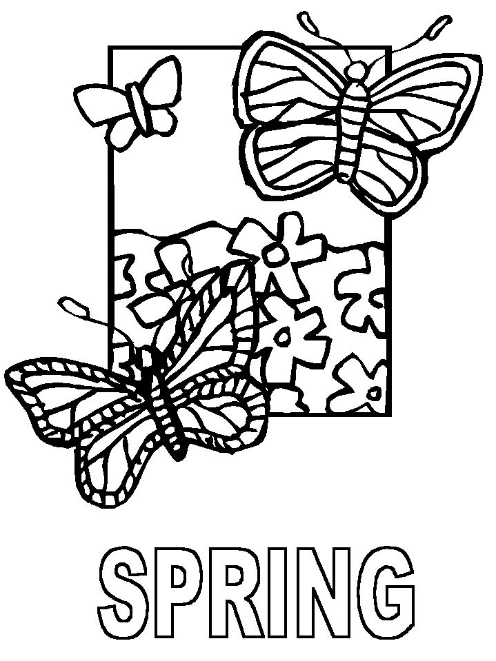 template   homeschool art   Pinterest   Spring coloring pages ...