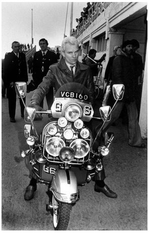 Quadrophenia - Sting's ride.  One of my favorite movies! Mods vs Rockers