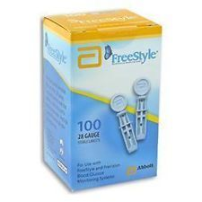 100 FREESTYLE 28G Lancets     Specially Designed  Brand New - Factory Sealed