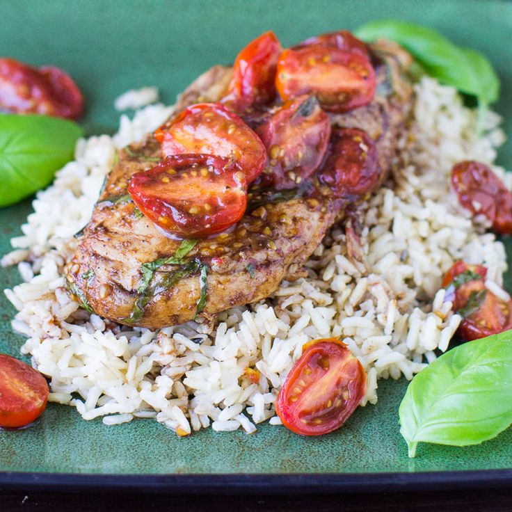 Breathe new life into boring chicken breasts with Balsamic Chicken and Tomatoes. This healthy, delicious meal takes only 4 ingredients and 30 minutes!