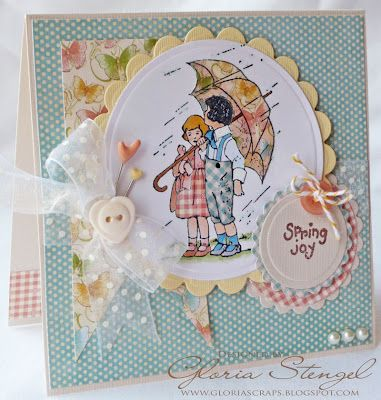 Beautiful card AND tutorial on paper piercing by Graphic 45 Design Team member, Gloria Stengel!