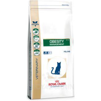 El pienso veterinario Royal Canin Diet Feline Obesity Management DP42 es un alimento indicado para gatos con obesidad que necesitan una fórmula especial para adelgazar. Tiene que ser prescrito por un veterinario.