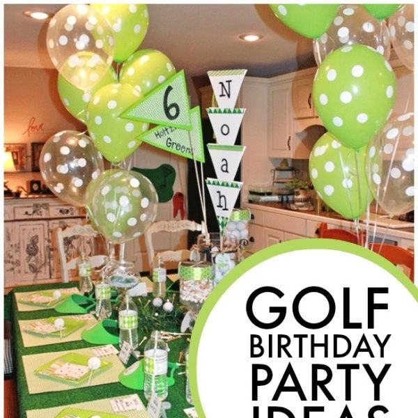 Can you keep your eye on the ball? Take a swing at these golf-themed, 6th birthday boy party ideas and score with all your guests!