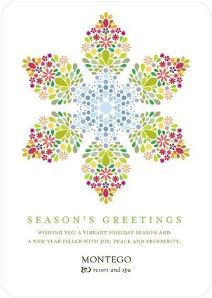 All Season Snowflake - Business Holiday Cards - Hello Little One - Coast - Blue : Front