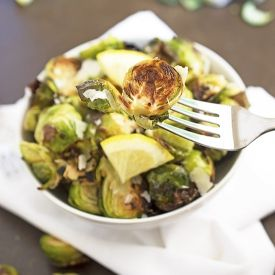 Roasted Garlic Brussels Sprouts [chefsavvy]