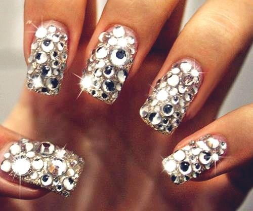 Beautiful crystal nails pinned with Pinvolve